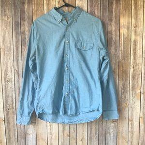 J. Crew Men's Blue Button Down Shirt Size M
